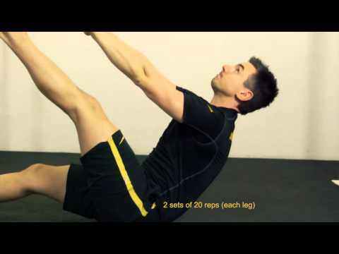 Single Leg Jackknife Crunch