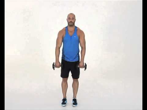Dumbbell Upright Rows Wide Overhand Grip